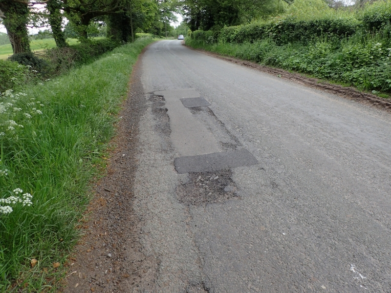 Road damage Bridgemere Lane