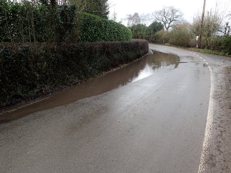 Flooding Chapel Bends on Crewe Road